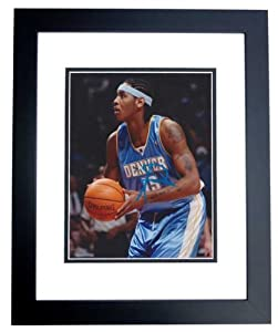 Carmelo Anthony Autographed Hand Signed Denver Nuggets 8x10 Photo - BLACK CUSTOM... by Real Deal Memorabilia