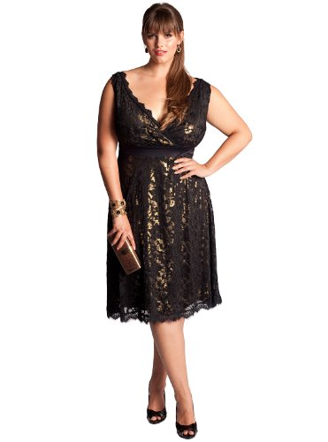 Cheap IGIGI by Yuliya Raquel Plus Size Leigh Lace Dress in Gold