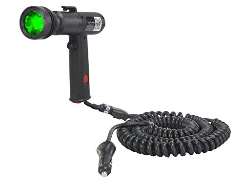 Green LED Handheld Spotlight - Pistol Grip Spotlight w/ 16' Coil Cord - 3 Watt LED