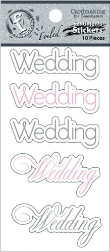 Ruby Rock-It Fundamentals Cardmaking Cardstock Stickers, 2.5 by 5.25-Inch, Wedding, 2-Pack