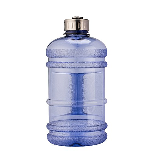 Large 2.2 Litre BPA-Free Sport Gym Half Gallon Water Bottle With Side Handle (Blue) (2 Gallon Bottle compare prices)