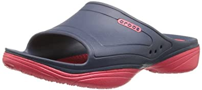crocs Men's 15605 Modi 2.0 Fisherman Sandal,Navy/Red,4 M US