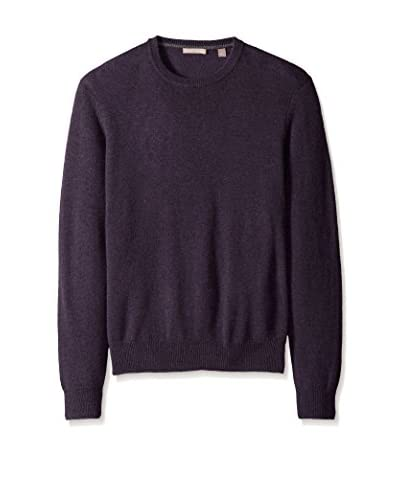 Cashmere Addiction Men's Solid Crew Neck Sweater