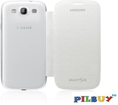 Pilbuy Flip Cover for Samsung Galaxy S3 Neo GT-I9300I - White