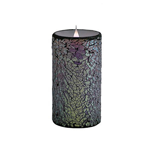 Pacific Accents Solare Mirrored Mosaic Flameless Candle