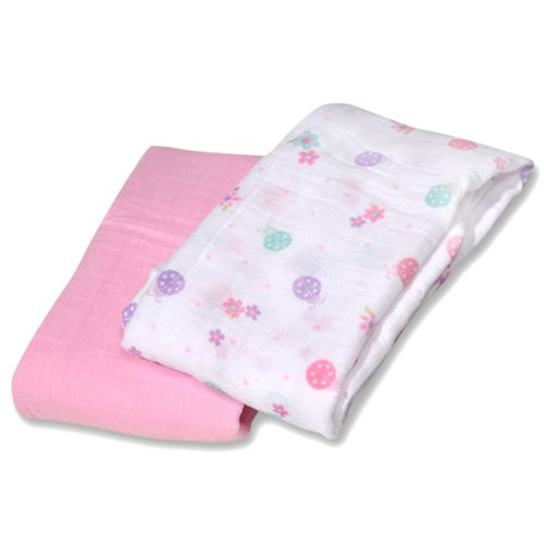 Summer Infant SwaddleMe Muslin Blanket, Little Lady, 2 Count (Discontinued by Manufacturer)