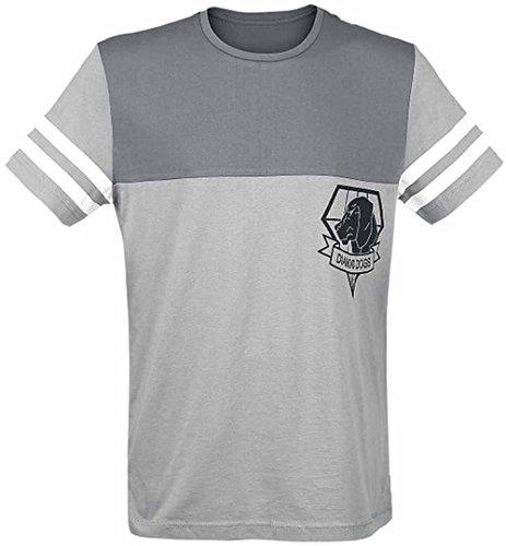 METAL GEAR SOLID - Metal Gear Solid Diamond Dogs Big Boss Since '84 Men's T-shirt, Grey (tslvl002mgs-s), T-shirt Uomo, Grigio (Grey), Small