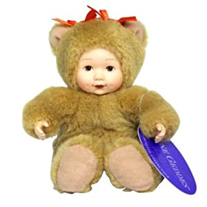 Anne Geddes Bean Filled Collection Baby Bear Doll 6 Inches by Unimax Toys