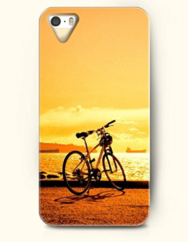 Oofit Phone Case Design With Bike Near The Sea At Sunset For Apple Iphone 5 5S 5G
