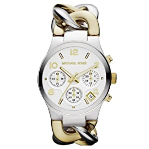 Michael Kors Watches Runway Twist Watch (Two Tone Gold)
