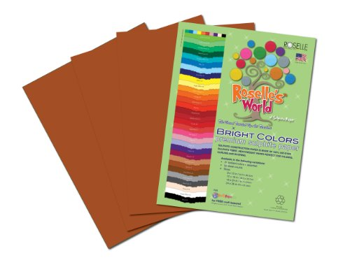 Roselle Bright Colors Suphite Construction Paper, 9 x 12 Inches, Brown, 50 Sheets Per Package (71301) (Brown Paper Packages compare prices)