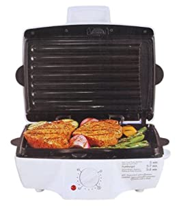 "HAMILTON BEACH's 25329 SUZANNE SOMERS SOMERSIZETM 25329SZ 100"" Indoor Grill with Removable Grids"