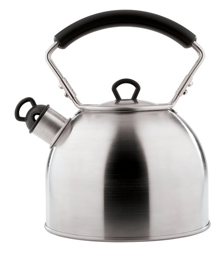 Copco Radius 1.9-Quart Brushed Stainless Steel Teakettle