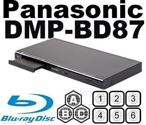 PANASONIC DMP-BD87 All Region Multi Zone DVD Blu Ray Player Built-in Wi-Fi MultiZone PAL/NTSC. 100~240V 50/60Hz (6 Feet HDMI Cable Included)