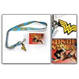 Wonder Woman Logo Lanyard with Rubber Charm