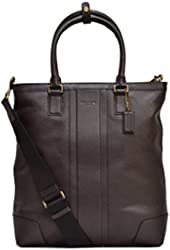 Coach Signature Business Leather Tote Shoulder Bag In Brown F71640 B4/MA