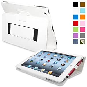 iPad 2 Case, Snugg™ - Smart Cover with Flip Stand & Lifetime Guarantee (White Leather) for Apple iPad 2