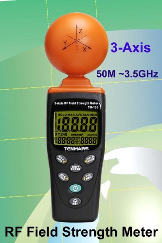 Cell Phone Radiation 3 Axis Detector (Up To 3.5 GHz) TM-195 (Cell Phone Radiation Detector compare prices)