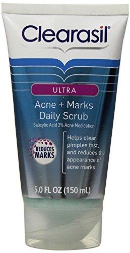 Clearasil Ultra Acne + Marks Acne Treatment Face Scrub, 5 Ounce