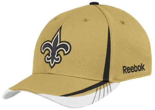 NFL New Orleans Saints Sideline Flex-Fit Draft Hat, Old Gold, Large/X-Large at Amazon.com