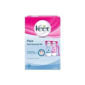 Veet Face Hair Removal Kit Sensitive Skin - 2 x 50 ml