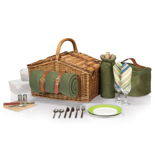 Review Of Picnic Time Somerset Willow Picnic Basket with Deluxe Service for Two