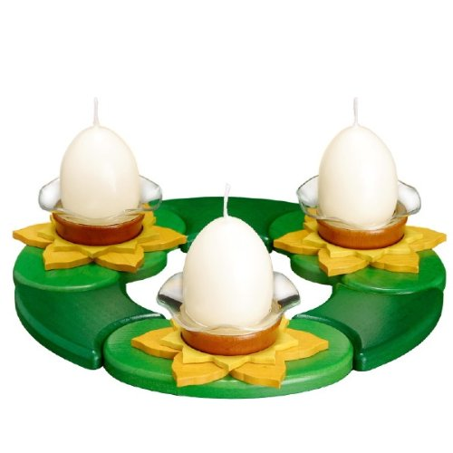 German Tea Light Candle Platform for Easter 3 Inch