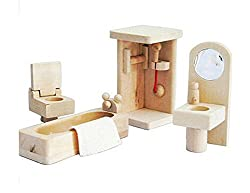 Lovely House Toys Kids Play Toys Games Wooden Assembling Furniture Toy Bathdroom