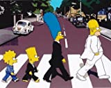 The Simpsons Abbey Road Beatles Album Cover TV Movie 10x8 Photograph Picture