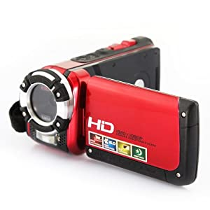 Red Full HD 1080P 16.0MP Waterproof Digital Camcorder DV Video Camera