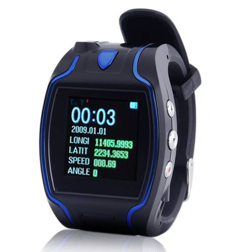 1.5Inch Lcd Gps Tracker Wrist Watch Gsm Gprs Surveillance Spy Tracking Quad Brand