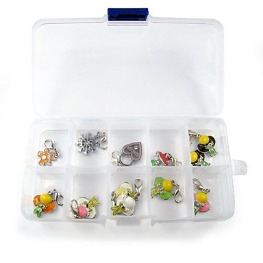 Zcl Simple Pvc Plastic Storage Box With Ten Action Grid For Saving Tags Of Collar For Pets Dogs