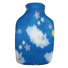Warm Tradition Starry Sky Fleece Covered Hot Water Bottle - Bottle Made in Germany, Cover Made in USA
