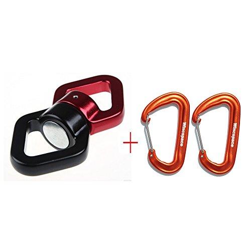wincspace-swivel-360safety-rotational-device-hanging-accessory-2-set-mini-aluminum-lightweight-carab
