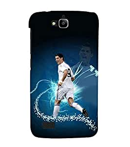 printtech Football Player Back Case Cover for Huawei Honor Holly