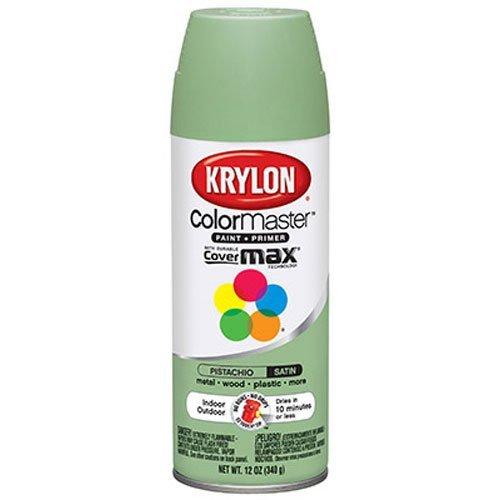 Krylon 53563 Pistachio 'Satin Touch' Decorator Spray Paint - 12 oz. Aerosol