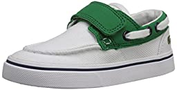 Lacoste Keel 116 2 Boat Shoe (Toddler/Little Kid/Big Kid), White/Green, 8 M US Toddler