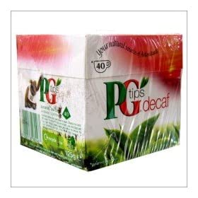 40 Decaffeinated Tea Bags - 3 Pack by PG Tips