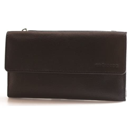 Brunhide Genuine Soft Matinee Womens Leather Purse Wallet Flap Over Design With Top Zipped Change Pocket # 208...