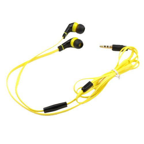 Bestdealusa Yellow 1.3M In-Ear Earbud W/ Microphone Earphone Headphone For Iphone 5 4S 4G