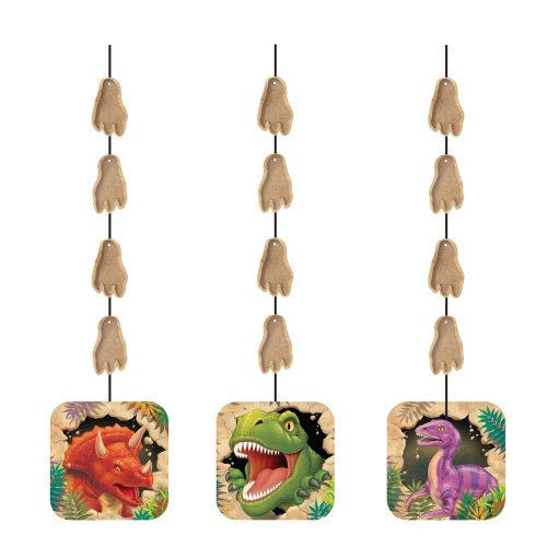 Creative Converting Dino Blast 3 Count Hanging Cutouts Party Decoration