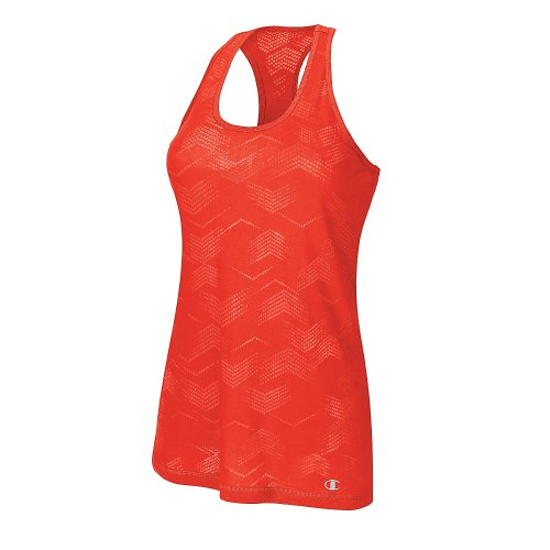 Champion Authentic Women's Burnout Tank S Fiery Red