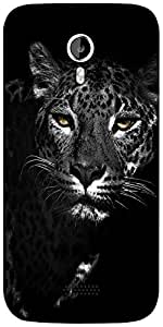 Snoogg Black and white leopard Designer Protective Back Case Cover For Micromax A116
