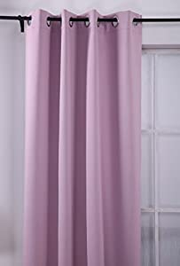 Amazon com deconovo lavender home thermal insulated blackout curtain