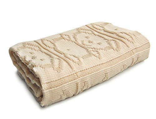 SonnenStrick 100% Organic Cotton Knitted Baby Blanket Made in Germany (40 x 35.5 inch).