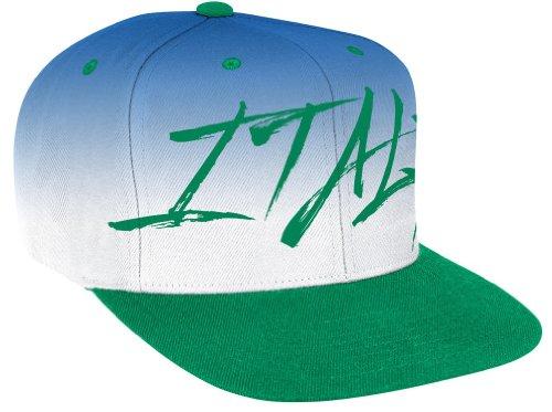 Italy 2014 World Cup Soccer Adidas Flat Brim Script Adjustable Snap Back Hat Cappello