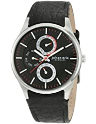 Johan Eric Men's JE4002-04-007 Streur Black Dial Leather Watch