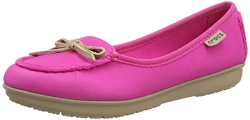 Crocs  Wrap Colorlite Ballet Flat W, Damen Mary Jane Halbschuhe Pink Pink (Candy Pink/Tumbleweed) 37.5