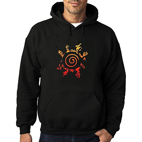 Men's Naruto Curse Seal Logo Heavy Blend Adult Hoodie Sweatshirts XL Black cool (50 Shades Of Grey Free Movie compare prices)