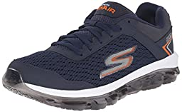 Skechers Performance Men\'s Go Air Walking Shoe, Navy/Orange, 13 M US